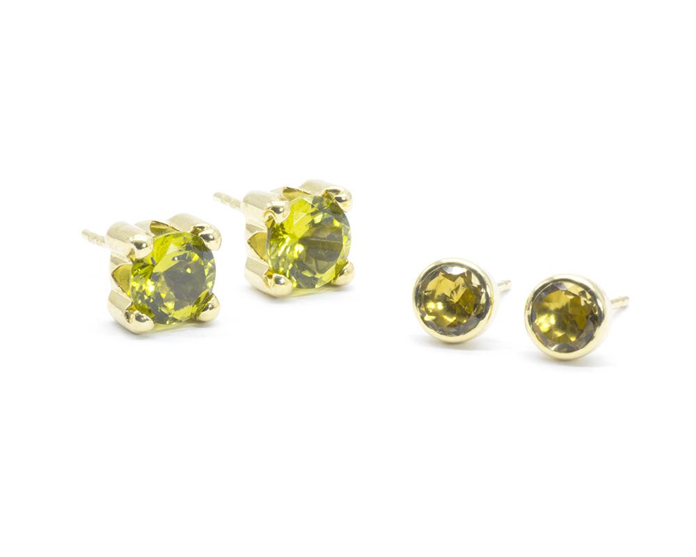 Pendientes oro y Piedras semipreciosas