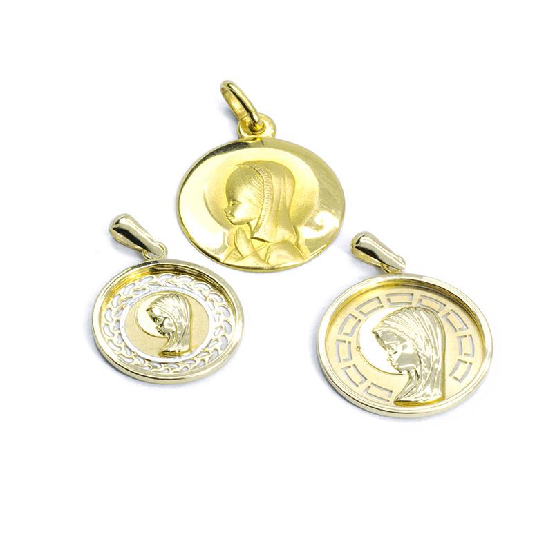 Medallas virgen niña